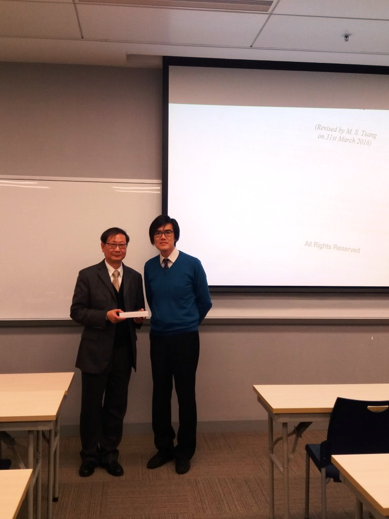 Mr Tsang (left) and Dr Elvis Lee, the Programme Director of MATBL