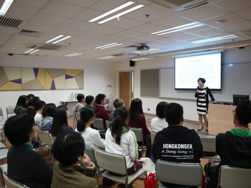 Mrs Julia Wen gives students a talk on poetry